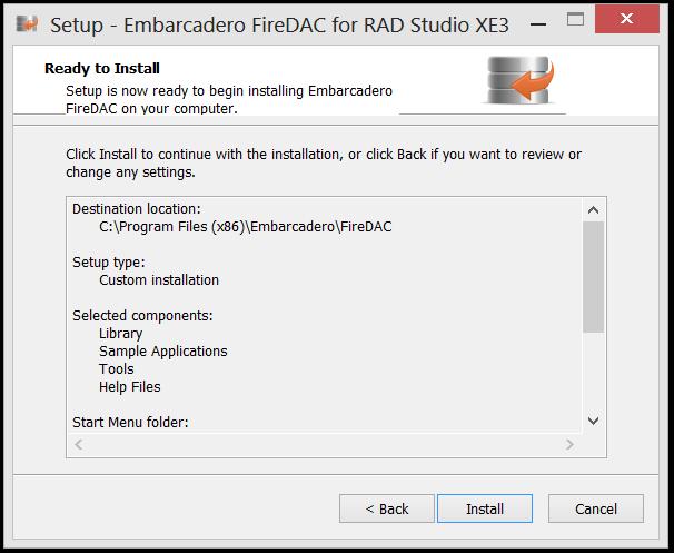 Instalando o FireDac no RAD STUDIO XE3 (4/6)
