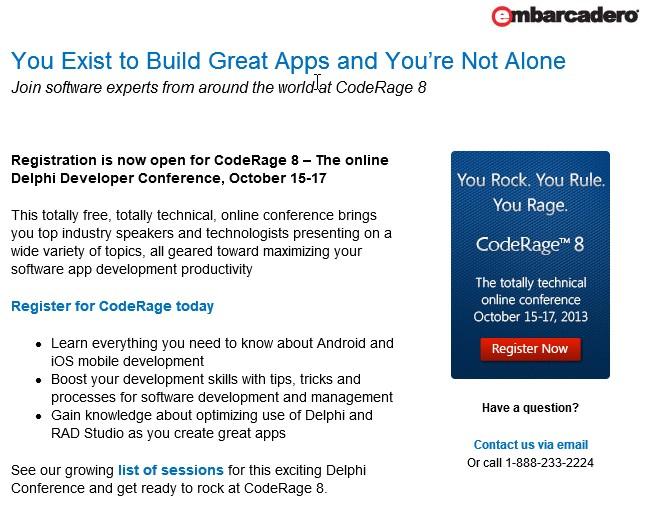 CodeRage 8  - You Rock - You Rule - You Rage