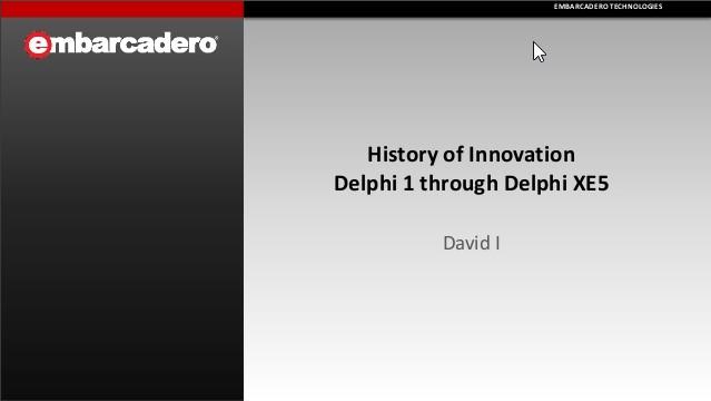 História do Delphi 1 até o XE5.