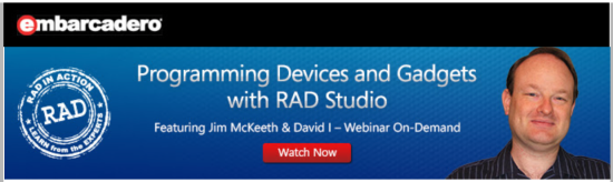 Now take the next steps to create amazing apps with  RAD Studio, Delphi, and C++Builder.