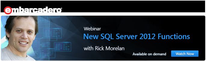 New SQL 2012 Functions with Rick Morelan