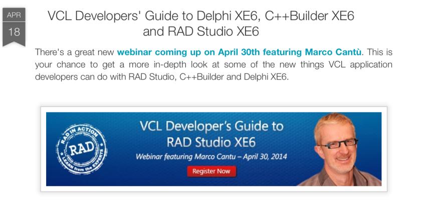 RAD in Action: VCL Developer's Guide to RAD Studio XE6