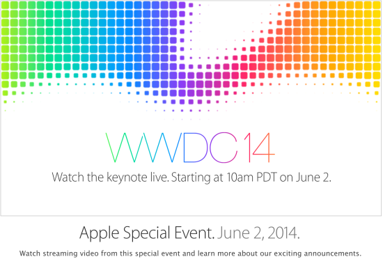 Apple irá transmitir ao vivo a Keynote de abertura da WWDC 2014